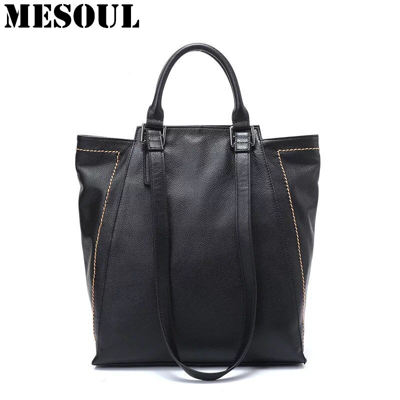Women Tote Bag Genuine Leather Fashion Brand Handbags Big Capacity Female Shoulder Bag Large Ladies Shopping Bags Bolsos Mujer ladies bag 2017 new trend fashion handbags large capacity shopping bag genuine leather bag simple shoulder ladies bag bbh1387