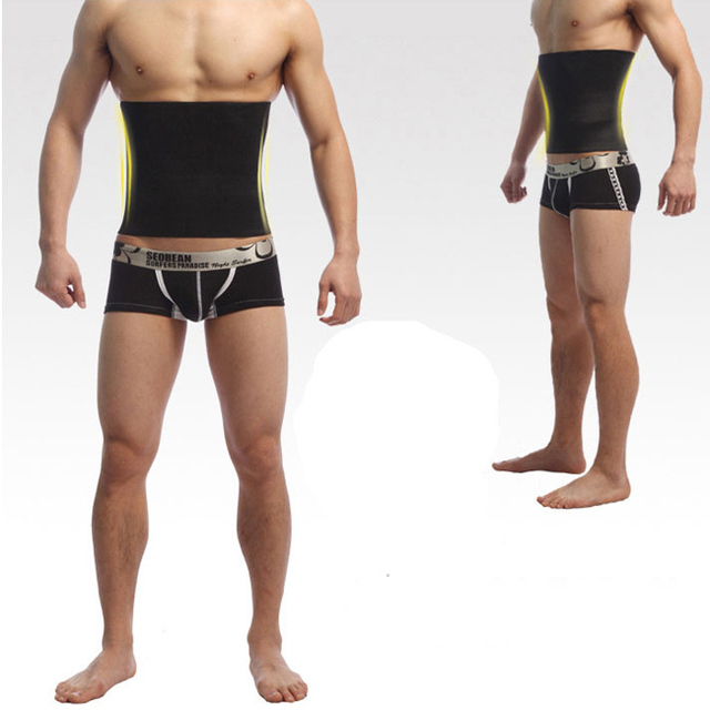 d94f597c20 Body Shaper Men Slimming Waist Trimmer Belt Corset Beer Belly Fat Cellulite  Burner Tummy Control Stomach