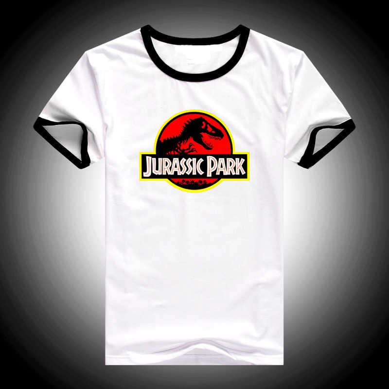 Hot sale JURASSIC PARK 3D Print T Shirt women Funny Harajuku female t-shirt Hipster cool tshirt female White Short Sleeve Tops