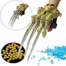 1 pc Skeleton talon arm shooter with Soft bullets water balls Pistol Plastic kids Toy Children Gift outdoor game Model gun boy(China)
