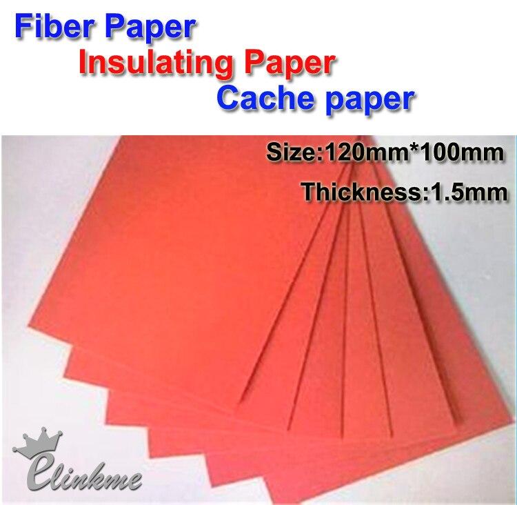 10 шт./лот, 120 мм* 120 мм* 1,5 мм, изоляционная прокладка, красная Вулканизированная волоконная бумага, изоляционная бумага для кэша
