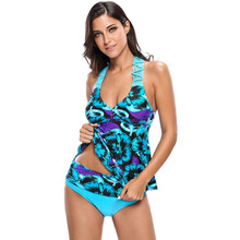 Two-Piece Floral Print Tankini