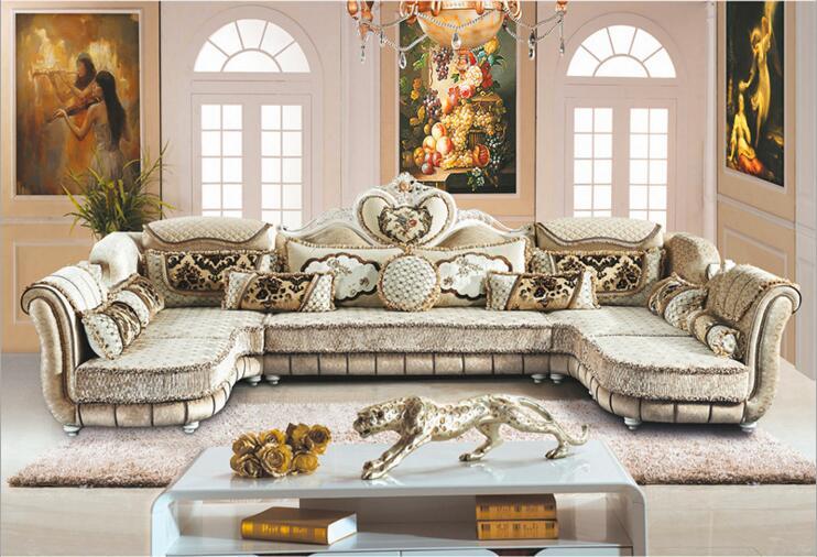 Meubles de salon canapé en tissu moderne canapé sectionnel européen a1259