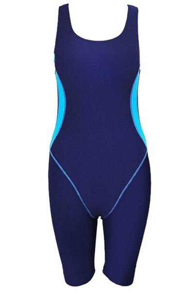 2018 Plus Size Women Sports One Piece Swimsuit Swimwear Professional Swimwear Bodysuit Female Knee Length Beachwear Monokini