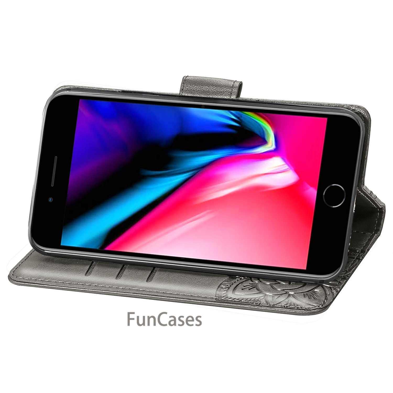 Leder brieftasche telefon fall für iphone 7 8 plus telefon panel halterung doppel deck Bank card slot PU + TPU iphone 7 8 Plus flip abdeckung
