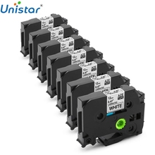 Unistar 7PK tze231 12mm tape compatible for Brother P-touch Printer label ribbons black on white tze-231 tz 231