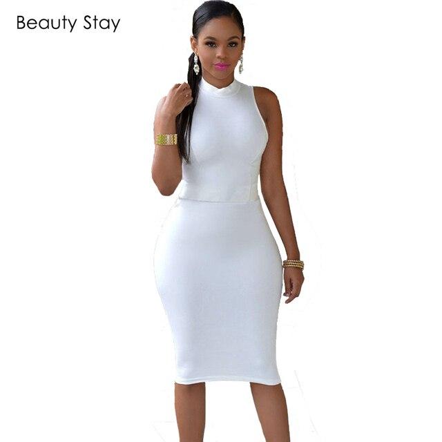 BeautyStay Women Fashion Bodycon Office Pencil Dress Elegant Sheath Backless  High Waist Sexy Night Club Party Formal Dresses 4086af323150