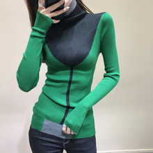 Sweaters Knitted Coloured Slim