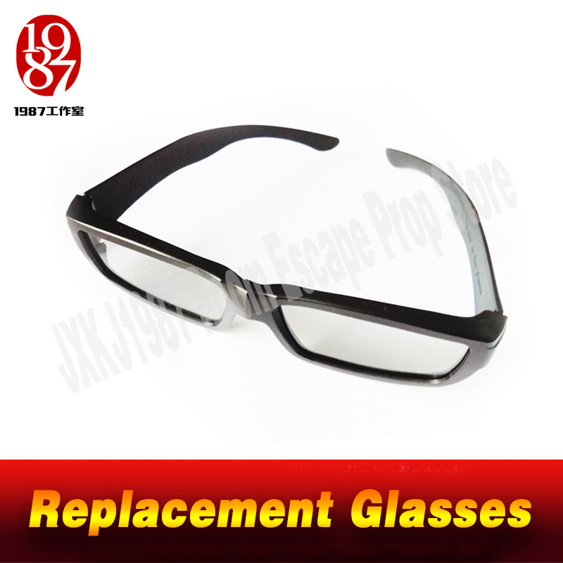 Replacement Glasses Of The Magic Glasses Prop Special Glasses To See The Hidden Clues Real Life Room Escape Game Jxkj1987