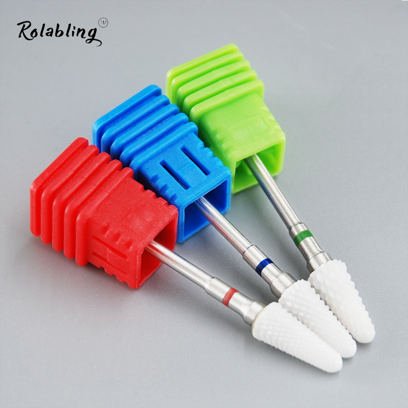 Hot Sale Ceramic Grinding Head For Nail Art Electric Drill Manicure Machine Nail Polish  ...