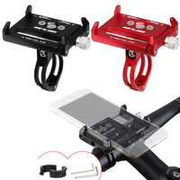 Full Aluminium Alloy Mobile Phone Holder Stands For Bicycle Motorcycle Metal Mountain Bike Road Bike Phone