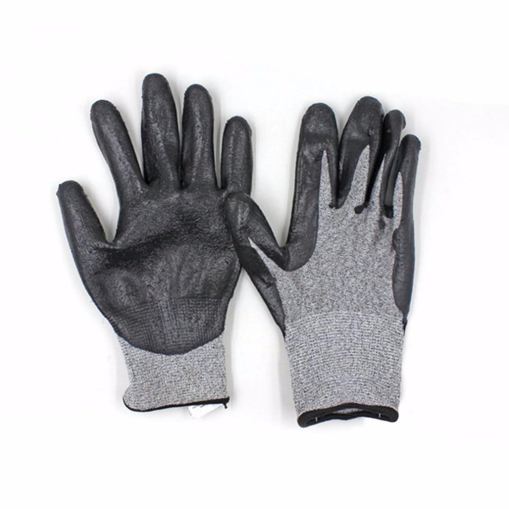 Work Safety Gloves PU Coated Black Safety Builders Gardening Working Gloves