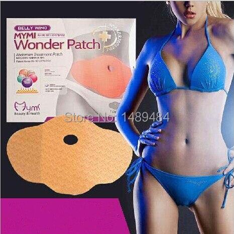30pcs Korea Belly Wing Mymi Wonder Slimming patch abdomen treatment patch