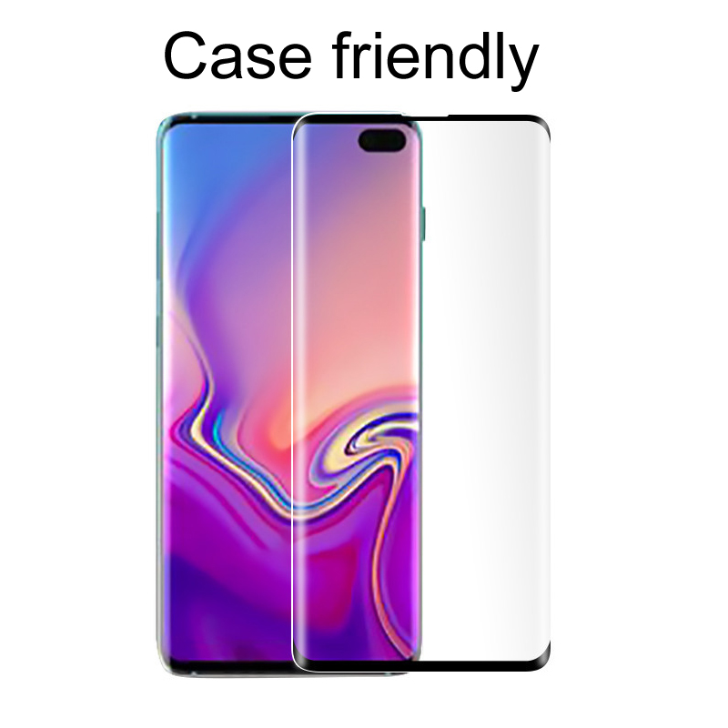 50pcs DHL 3D Curved Edge Tempered Glass For Samsung Galaxy S10 S10 S10e Screen Protector Case