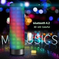 Mini Portable 360 Degree Wireless bluetooth Speaker 3D LED Light HIFI Stereo Sound Speakers for Outdoor Sports Gifts