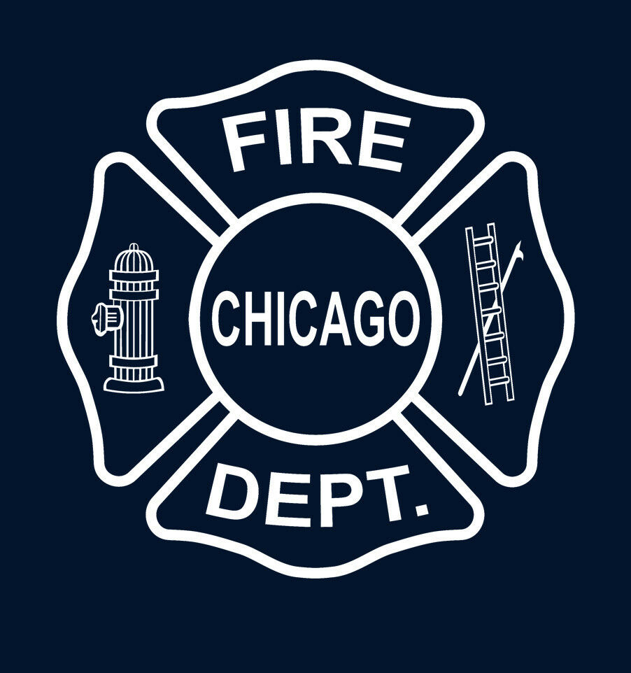 2019 Fashion Double Side Chicago Fire Tv T-Shirt Firefighter T-Shirt Unisex Tee