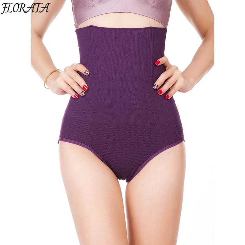 Mujeres de alta cintura Cuerpo Shaper Bragas Seamless tummy Belly ...