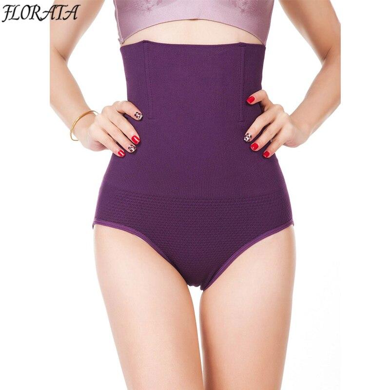 Mujeres de alta cintura Cuerpo Shaper Bragas Seamless tummy Belly control cintura adelgazamiento Pantalones shapewear Ropa interior cintura entrenador