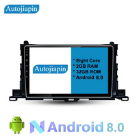 AUTOJIAPIN 10.1 Eight Core Android 8.0 2G RAM 1024*600 CAR Navigation For TOYOTA / 2015 HIGHLANDER With Stereo Radio Audio