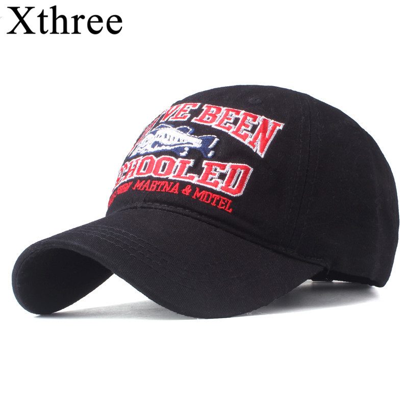 Xthree Good qualit baseball cap for me fitted cap snapback hat for women gorras casual casquette embroidery fish cap