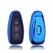 Мягкий ТПУ защитный чехол для автомобильных ключей, чехол для FORD C-MAX FOCUS RS ST Fiesta хэтчбек, автомобильный Стайлинг, брелок для ключей, чехол, брелок