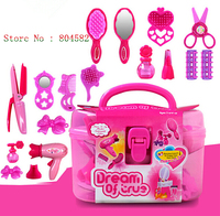 Girl Children Play House Dressing Makeup Cosmetics Pretend Play Classic Toy Furniture Tsimulation Vanity Jewelry Makeup