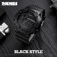 Men Silicone Sport Watch Hot SKMEI Top Brand Mens Digtial Watches Waterproof Military Electronic Wristwatch Male