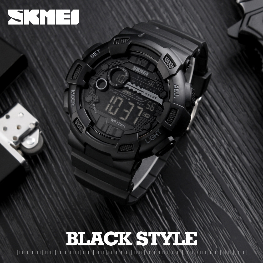 Men Silicone Sport Watch Hot SKMEI Top Brand Mens Digtial Watches Waterproof  Military Electronic Wristwatch Male Clock Reloj mens watch top luxury brand fashion hollow clock male casual sport wristwatch men pirate skull style quartz watch reloj homber
