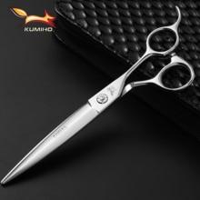 "KUMIHO 2019 New Arrival 7"" Professional Hair Scissors Willow Shape Hair Shears Slid Professional Haircut Shears Sliding Raz"