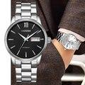 Новые мужские часы Серебристые автоматические механические часы модные роскошные Брендовые Часы мужские водонепроницаемые наручные часы ...
