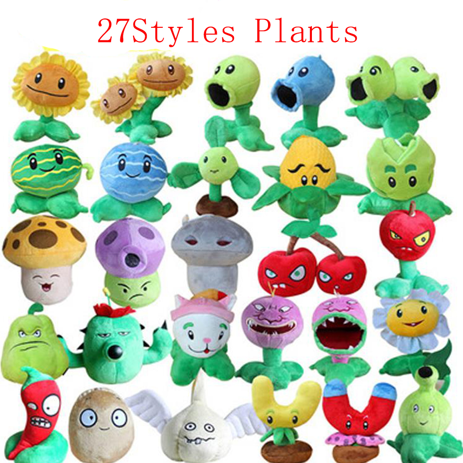 Plants vs Zombies 2 PVZ Plush Figures Zombie Plush Baby Staff Toy Stuffed Doll