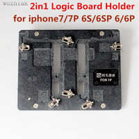 2in1 Motherboard Clamps High Temperature Main Logic Board PCB Fixture Holder for iPhone 6 6p 6S 6sP7 7pFix Repair Mold Tool