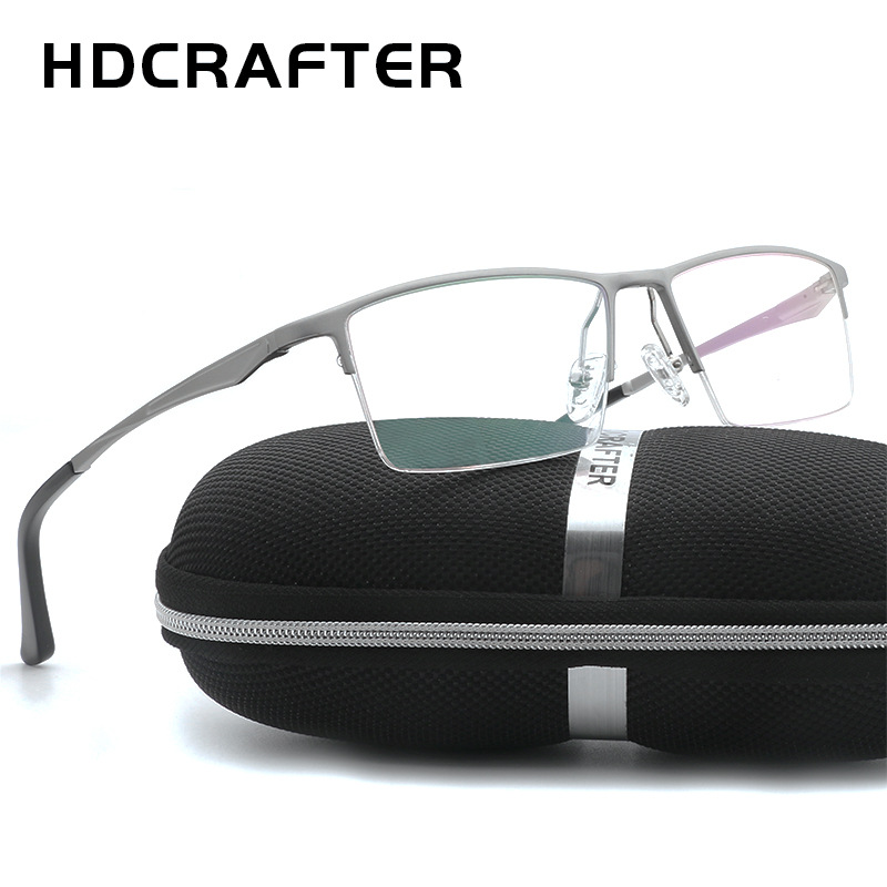 HDCRAFTER Prescription Myopia Glasses Frame Eyeglasses Frames Men Optical Glasses Frames For Women Reading Computer Eyewear
