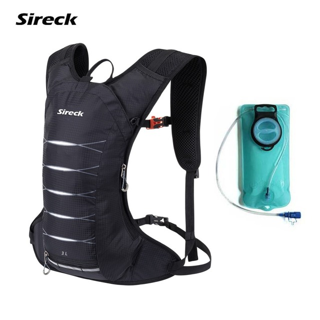 Sireck 2L Water Bag Bladder 3L Hydration Backpack Waterproof Running Bag For Gym Camping Sport Cycling Hiking Mochila