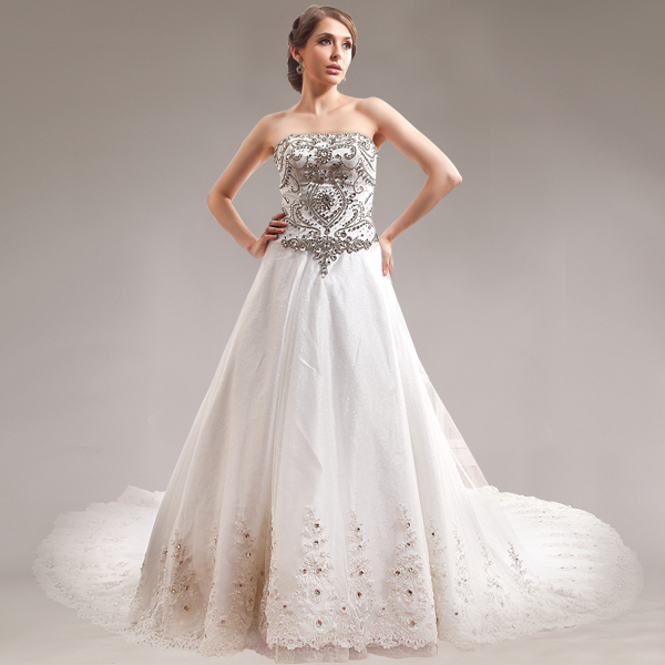 Zhongshan Naposa Bridal dress Free Shipping Wedding Gown Low Cut Crystal  Rhinestone Wedding Dresses China 5e783d364261