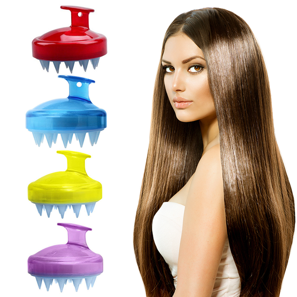 1 PCS Spa Slimming Massage Brush Silicone Head Body Shampoo Scalp Massage Brush Comb Hair Washing Comb Shower Bath Brush Props