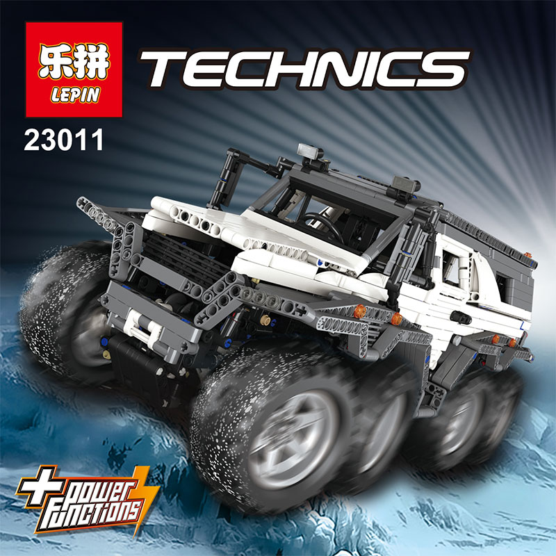LEPIN 23011/23011B LEGOING serie Technic vehículo todoterreno Model Building Kits bloques ladrillos Compatible juguetes educativos Boy