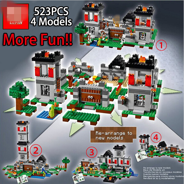 NEW font b LEPIN b font minecrafted series The Fortress model Building Blocks set Classic Compatible