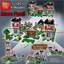NEW LEPIN minecrafted series The Fortress model Building Blocks set Classic Compatible With Legoed My world toys for children