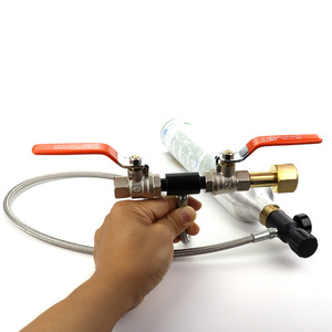 Image 5 - Новинка Sodastream Deluxe двойной клапан CO2 заполняющая станция зарядный адаптер с манометром 3000PSI 37 дюймовый шланг CGA320 & W21.8 14