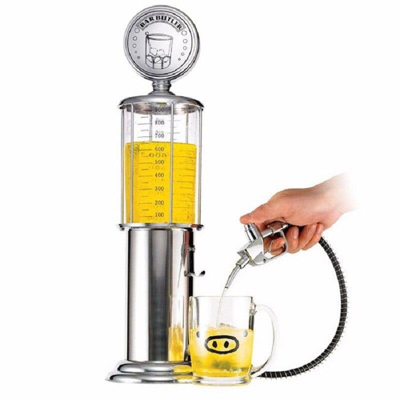 Neue Mini Bier Dispenser Maschine Trinken Gefäße Doppel Pistole Pumpe mit Transparent Schicht Design Tankstelle Bar für Trinken Wein