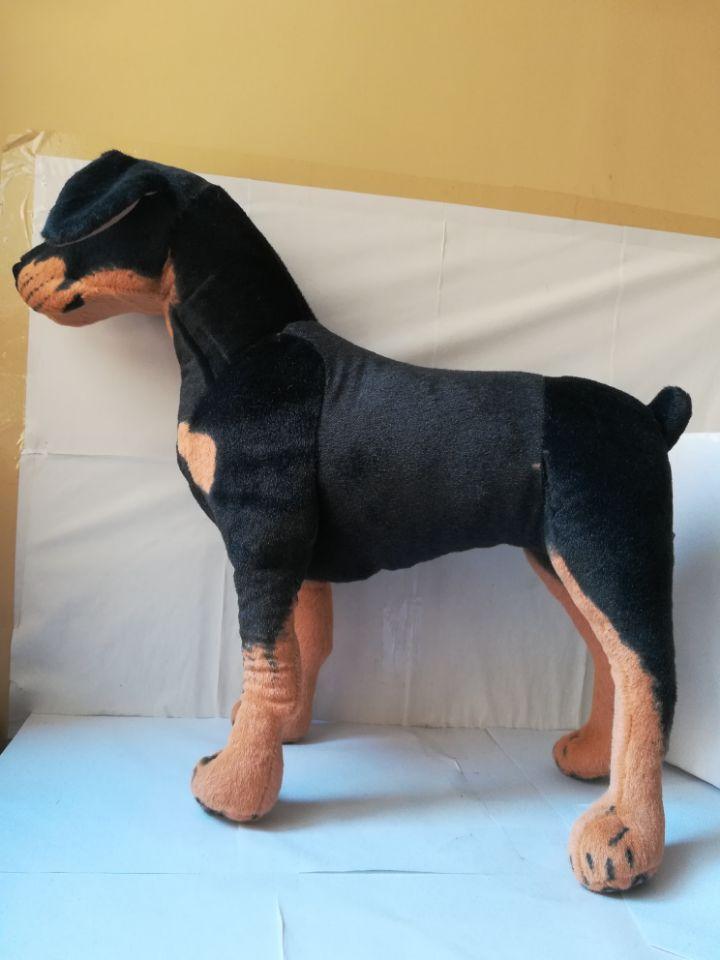 Grand 60x55 cm simulation Rottweiler chien en peluche jouet debout pose Rottweiler poupée cadeau de noël b2501 - 5