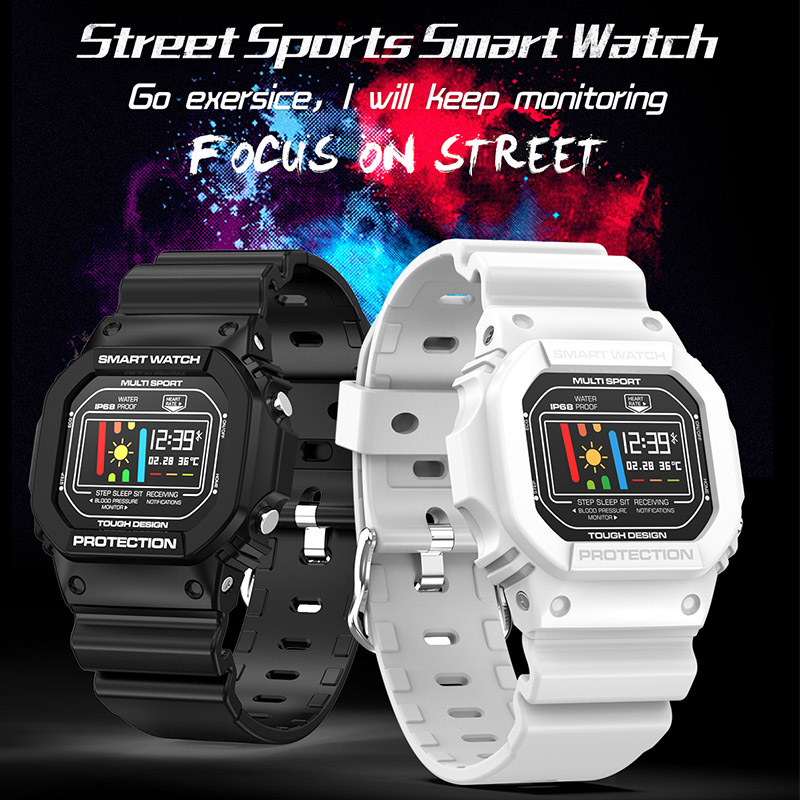 Fashion Smart watch <font><b>X12</b></font> IP68 Waterproof 200mAH Fitness Heart Rate Blood Pressure Sleep Monitor Sports <font><b>Smartwatch</b></font> With ECG+PPG image