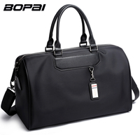 BOPAI Men Travel Bag Organizer Short Distance Business Travel Men Bags Black Unisex Ladies Travel Shoulder