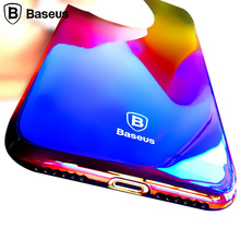 BASEUS Gradient Color Case For iPhone 7 / 7 Plus Luxury Slim Transparent Hard Glaze Case For iPhone 7 Case Cover