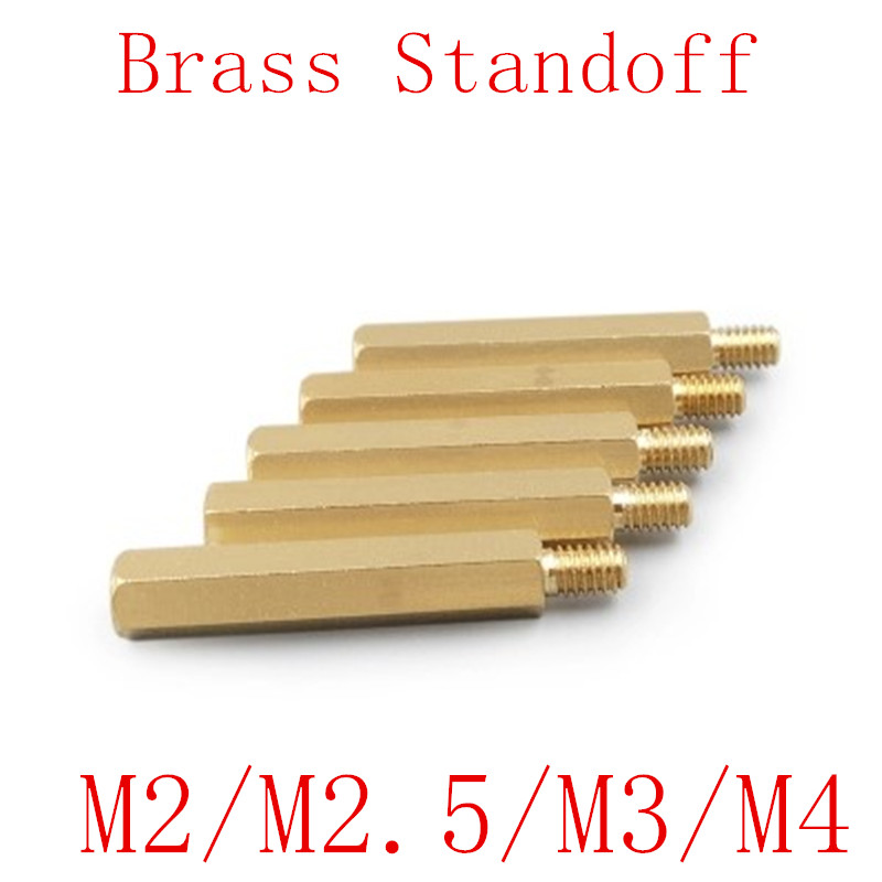 50pcs 20pcs <font><b>brass</b></font> <font><b>standoff</b></font> <font><b>M2</b></font> <font><b>M2</b></font>.5 M3 M4 Male Female <font><b>Brass</b></font> <font><b>Standoff</b></font> Spacer Hexagonal Stud Spacer image