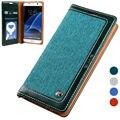 Cordão magnético flip tela de livro de couro stand case para samsung galaxy s7 edge s 7 carteira luxo capa protetora coque Capinha