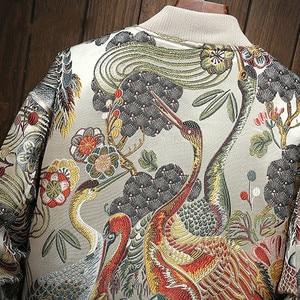 Image 3 - Japanese Embroidered Jacket Men 2019 Sping New Hip Hop Streetwear Bomber Jacket Mens Clothes Veste Homme