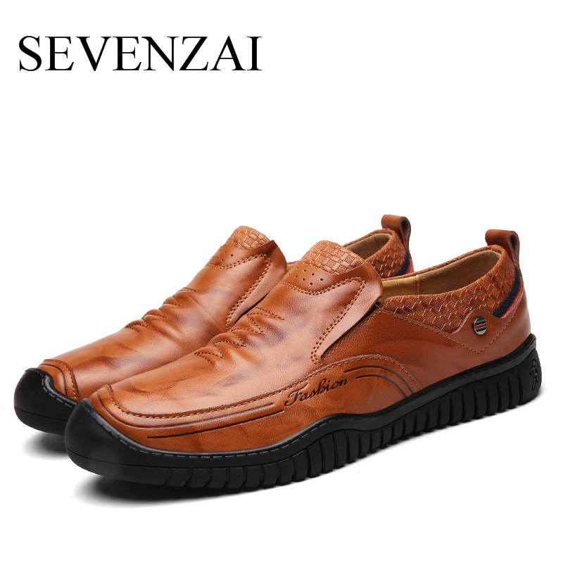 Plein Confortable Chaussures red Bureau Brown Cuir Souple light En Brown Air Casual Mâle Hommes Marque Mode Black Luxe Mocassins De Uwf8qII