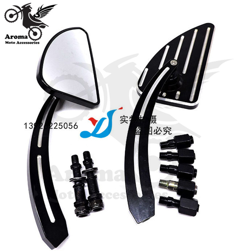 top quality CNC part motorcycle rearview mirror triangle 10MM 8MM for harley mirrors motorbike rear view mirror moto accessoriestop quality CNC part motorcycle rearview mirror triangle 10MM 8MM for harley mirrors motorbike rear view mirror moto accessories